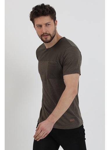 Slazenger Slazenger Benny Erkek T-Shirt Kiremit Haki